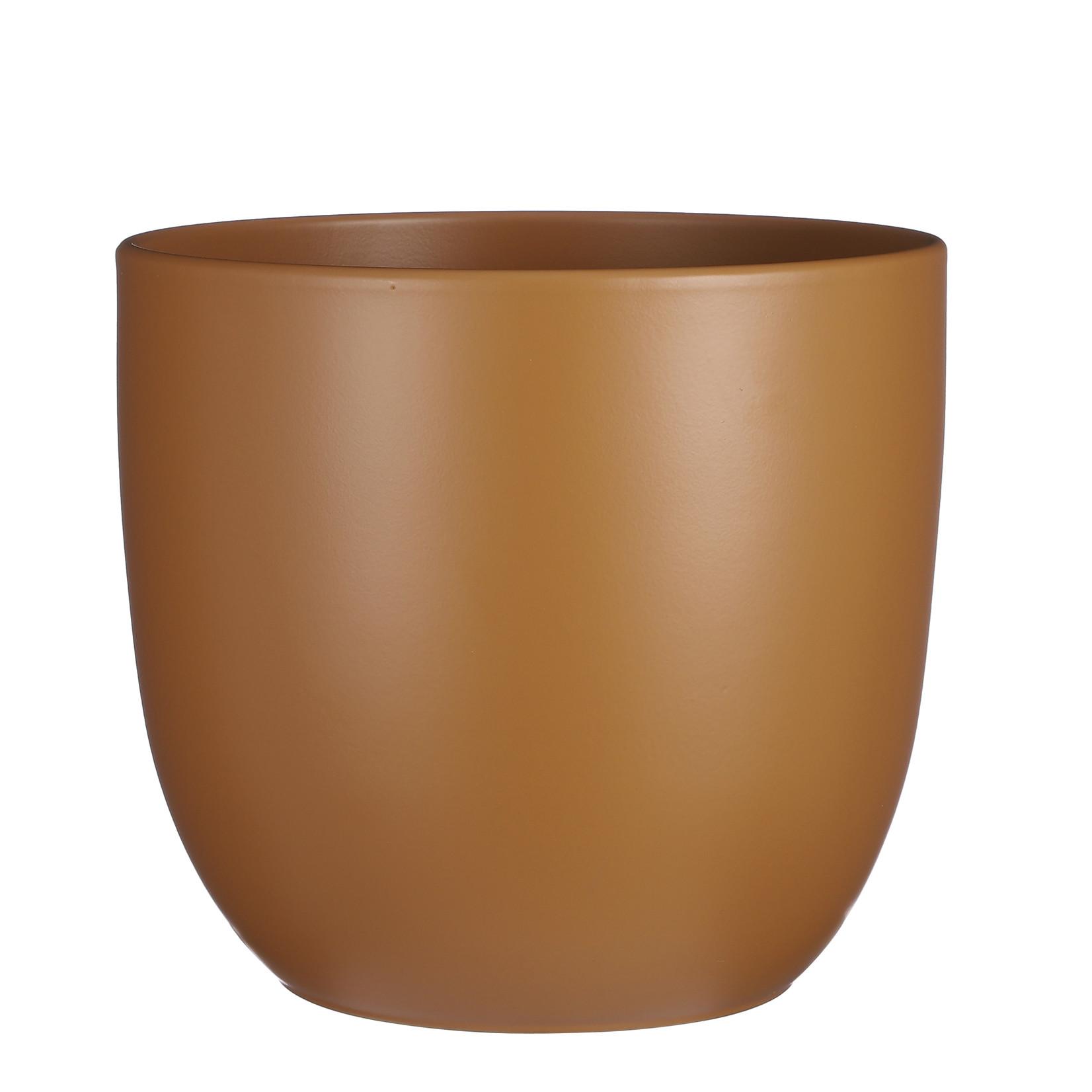 Mica Decorations Tusca pot rond bruin