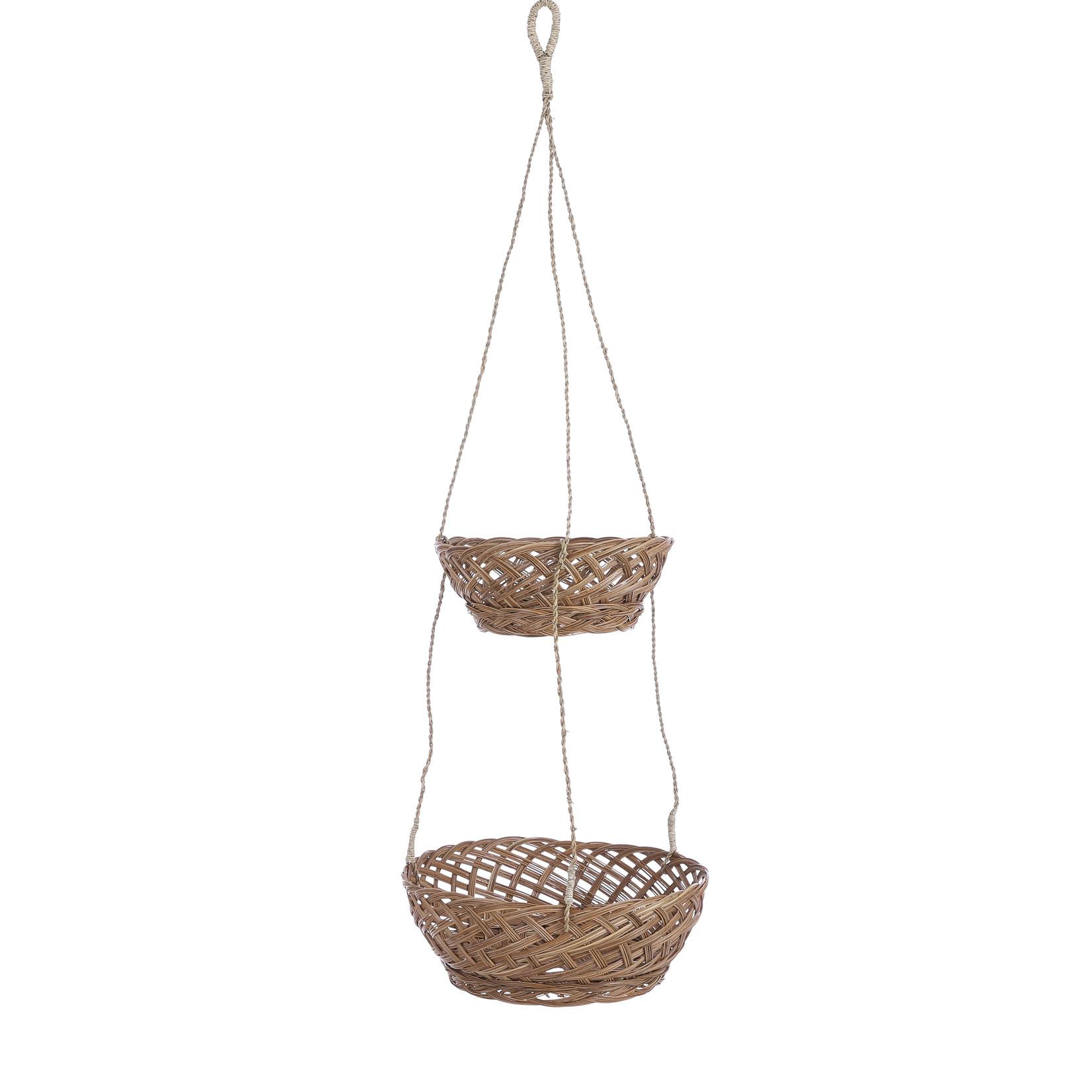 Mica Decorations Mand hangend bruin