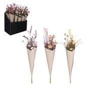 Mica Decorations Dried-look bloemen 3 assorti