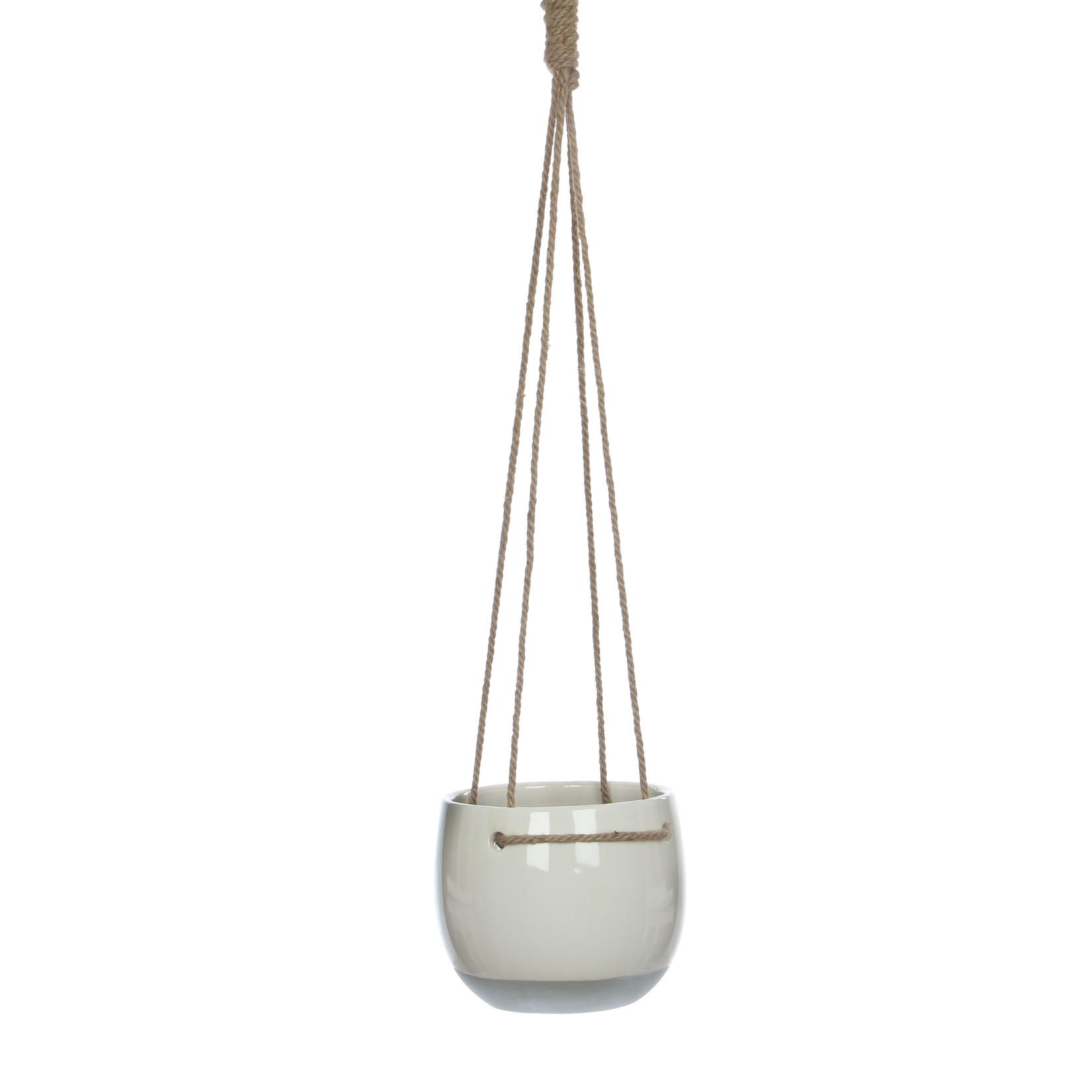 Mica Decorations Resa hangpot rond white
