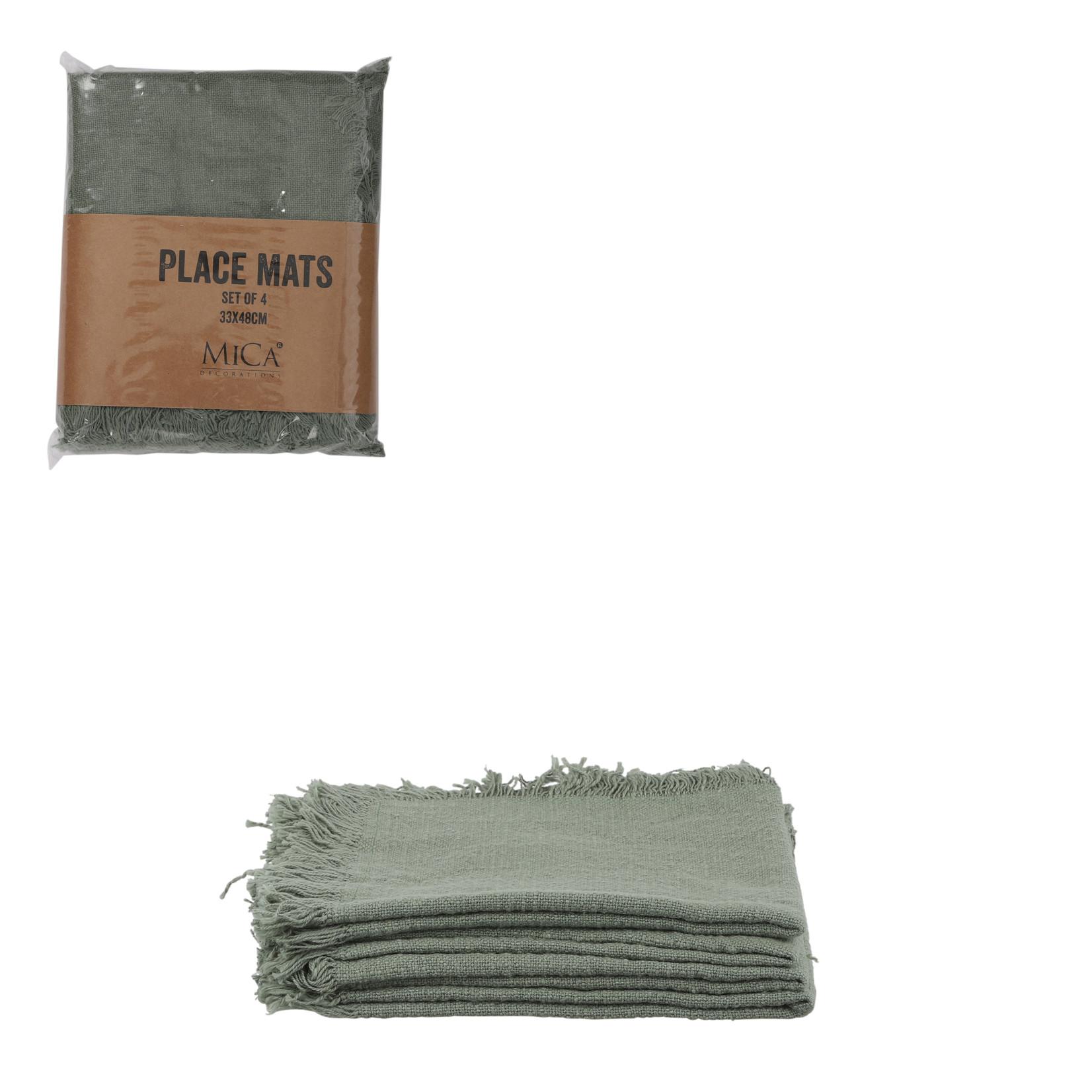 MiCa Xavie placemat groen 4 stuks