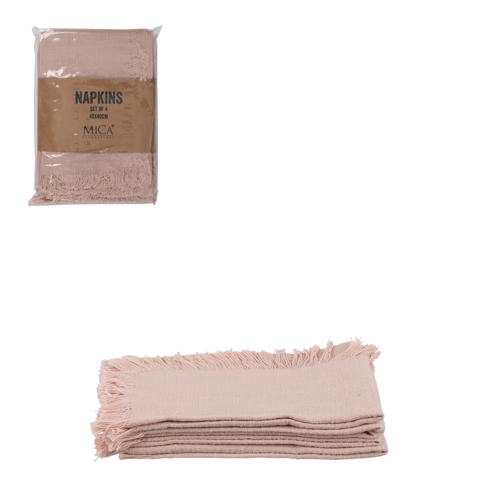MiCa Xavie servet roze 4 stuks
