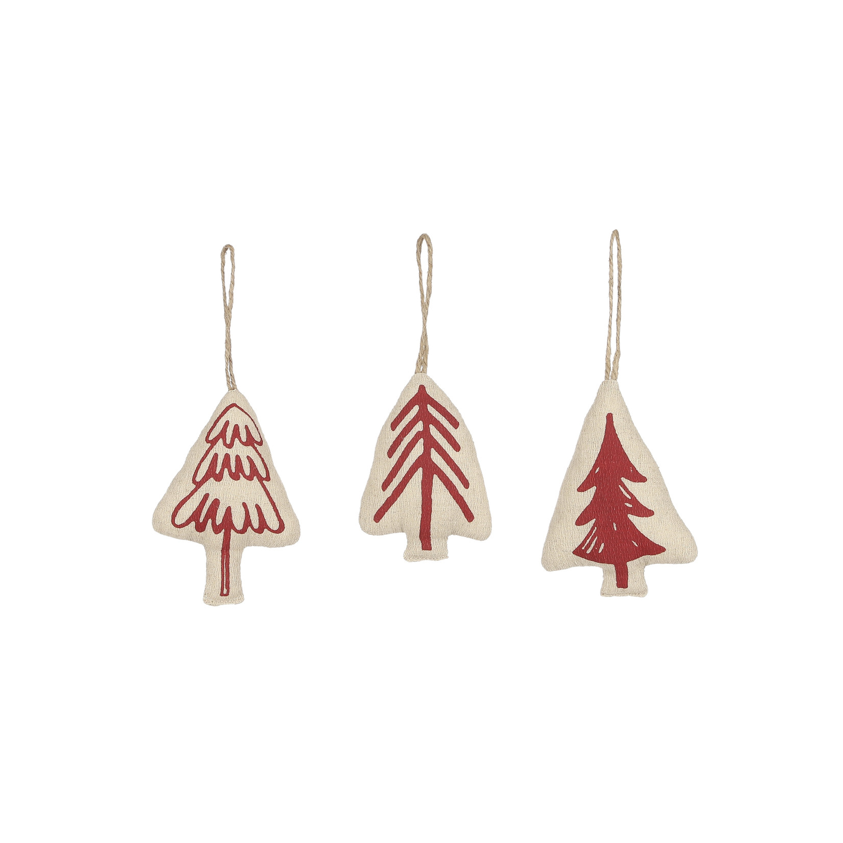 House of Seasons Ornament tree red 3 assorted