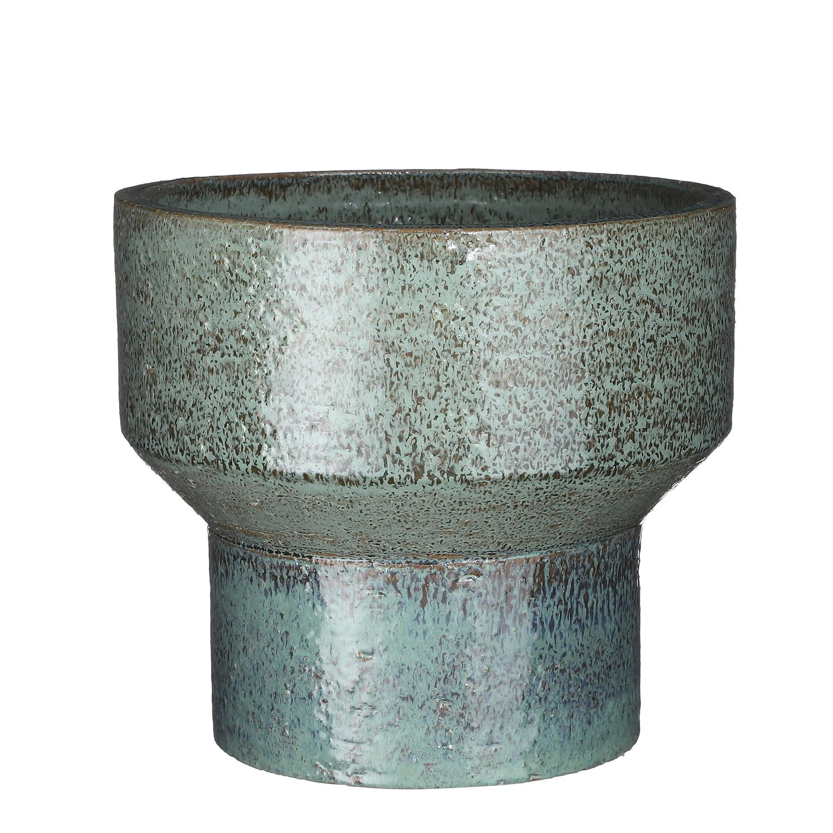Mica Decorations Pietra pot round green glaze