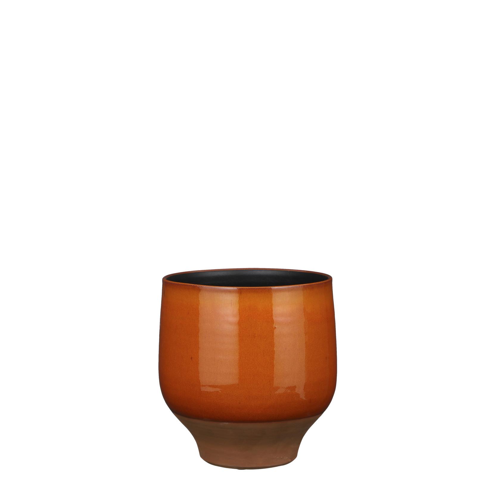 Mica Decorations Myron pot rond oranje