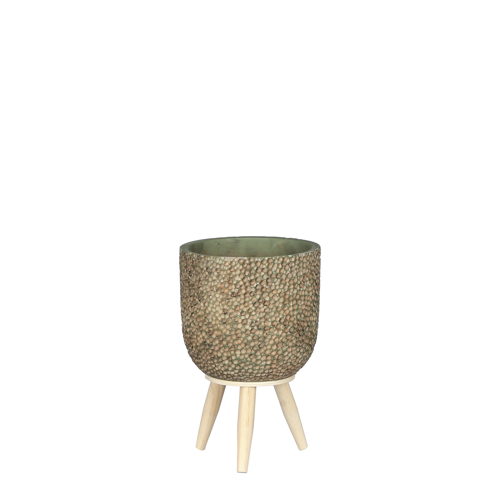 Mica Decorations Lexy pot on stand d.green