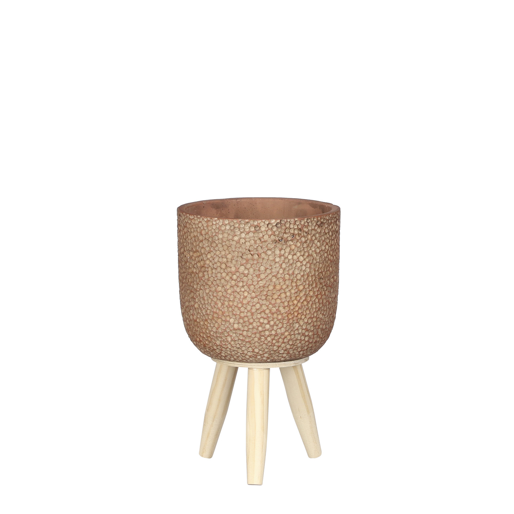 Mica Decorations Lexy pot on stand d.red