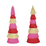 House of Seasons Ornament cone red gold