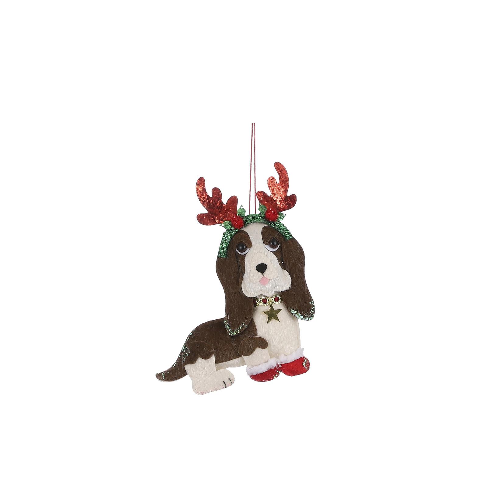 House of Seasons Ornament dog brown