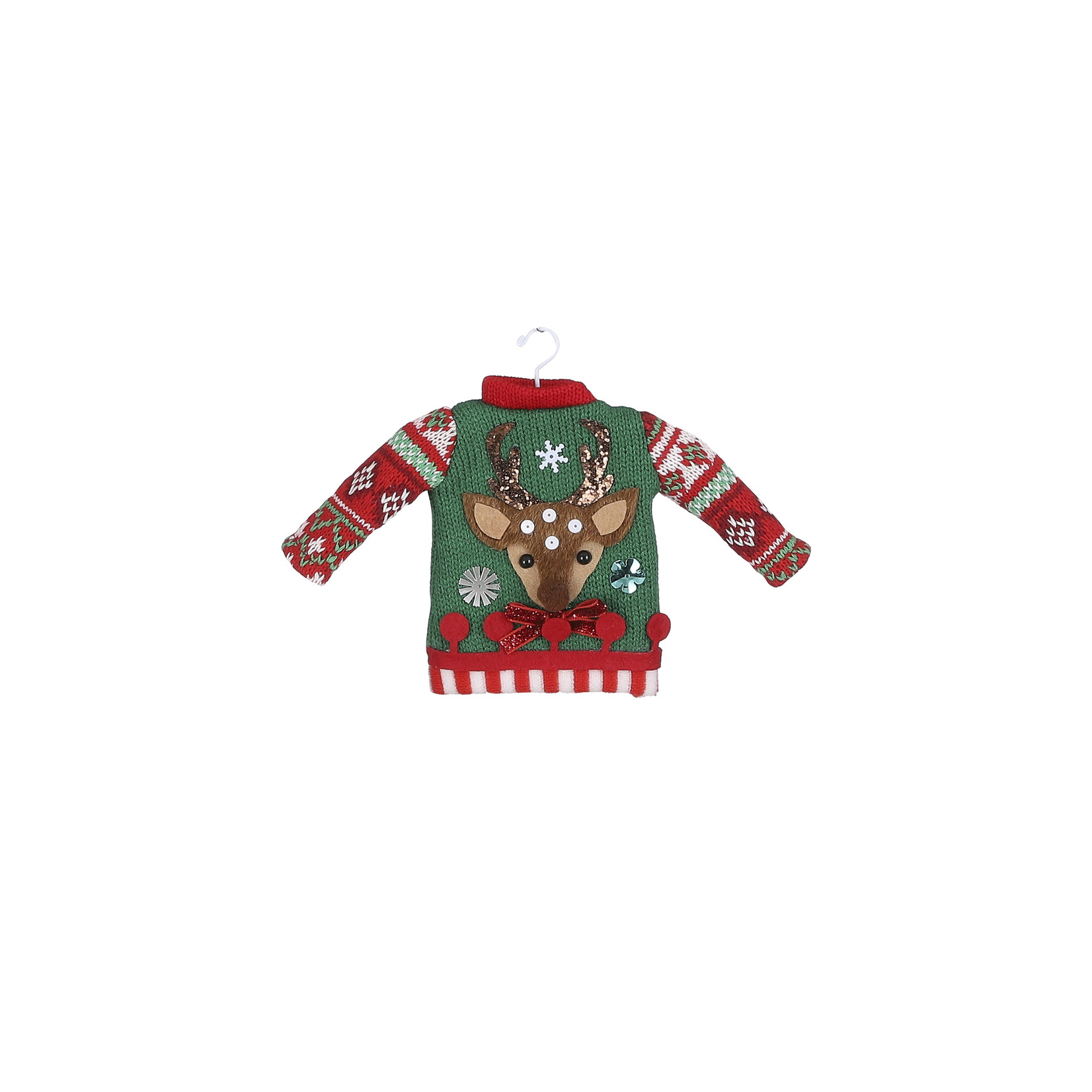 House of Seasons Ornament sweater green