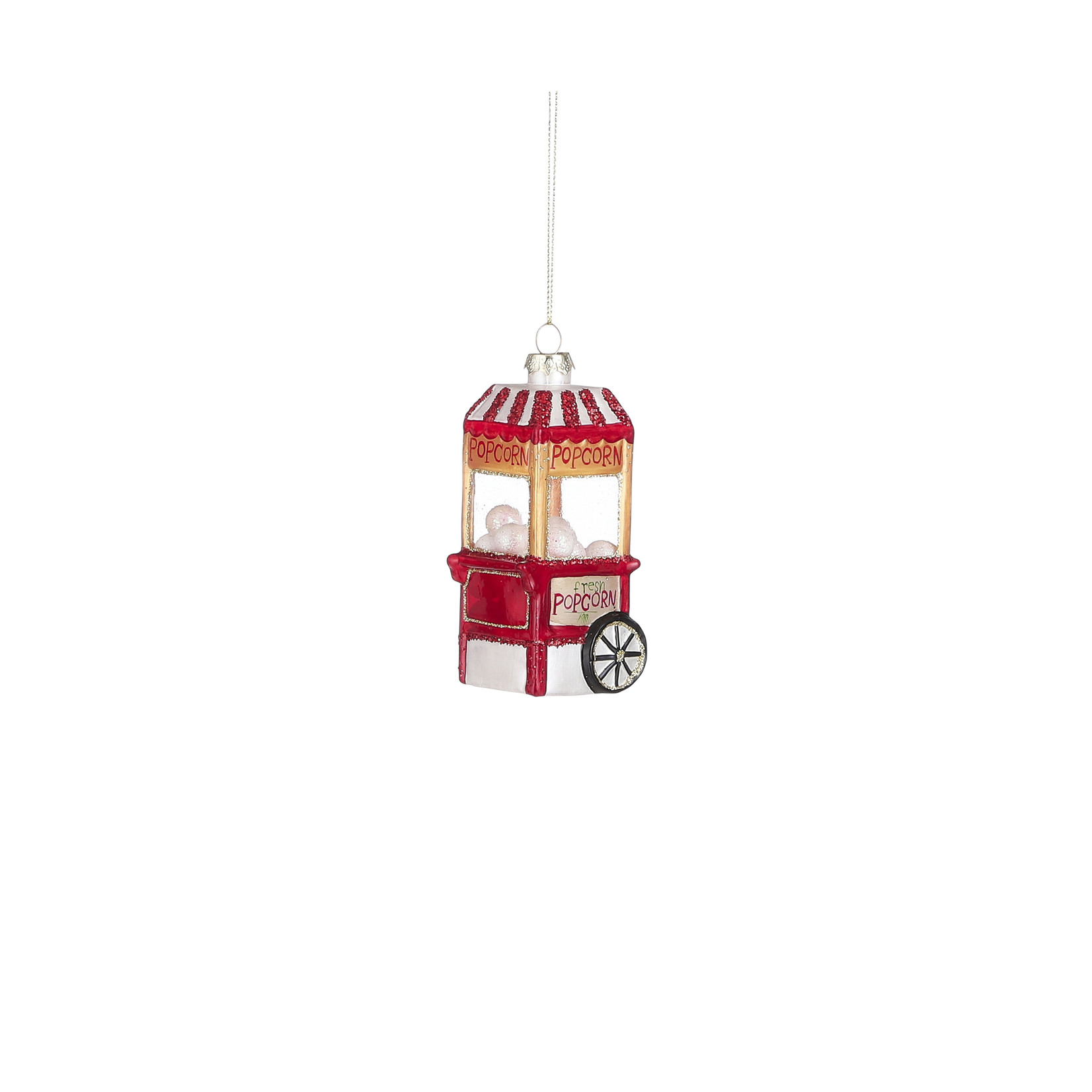 House of Seasons Ornament popcorn red