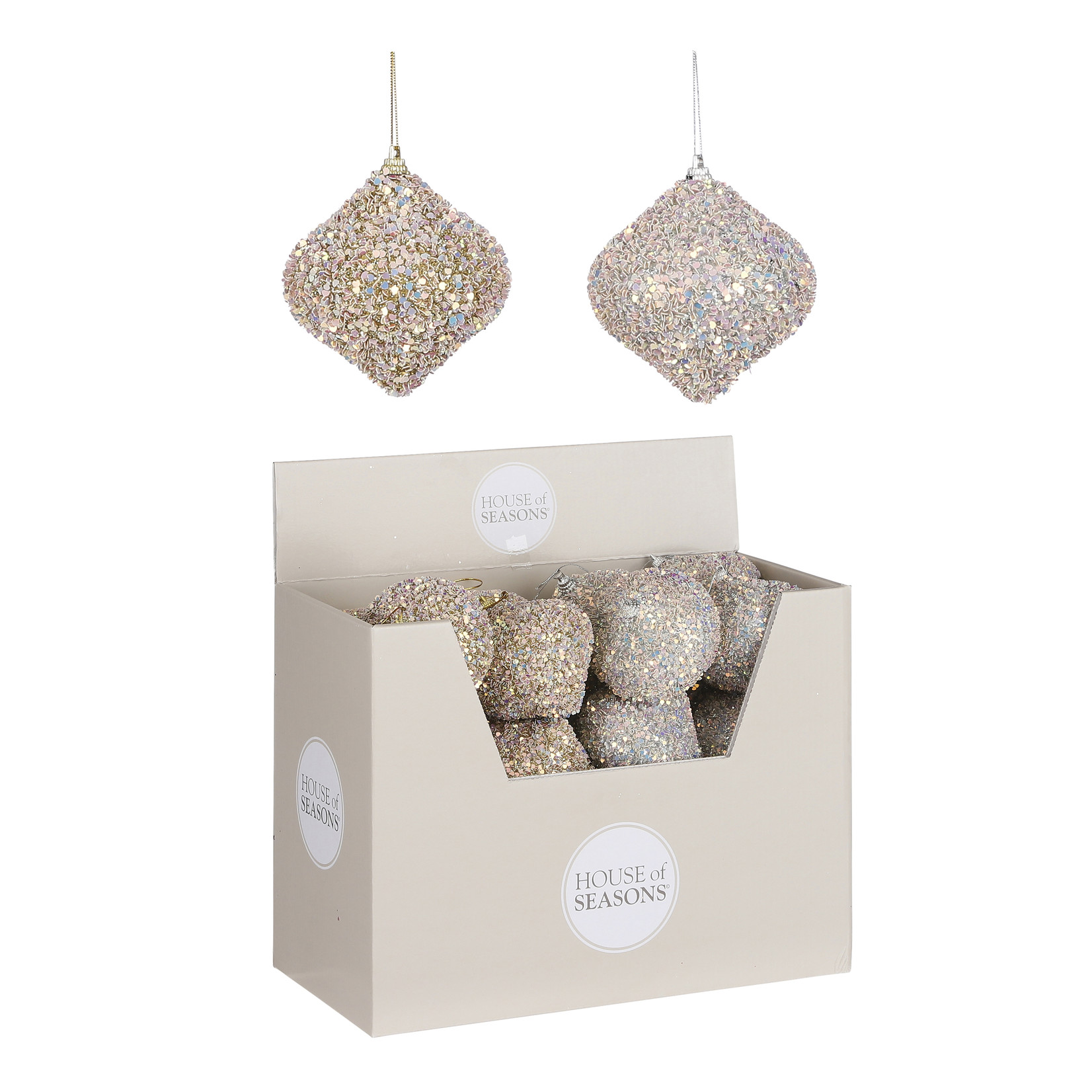 House of Seasons Ornament ui zilver goud 2 assorti display