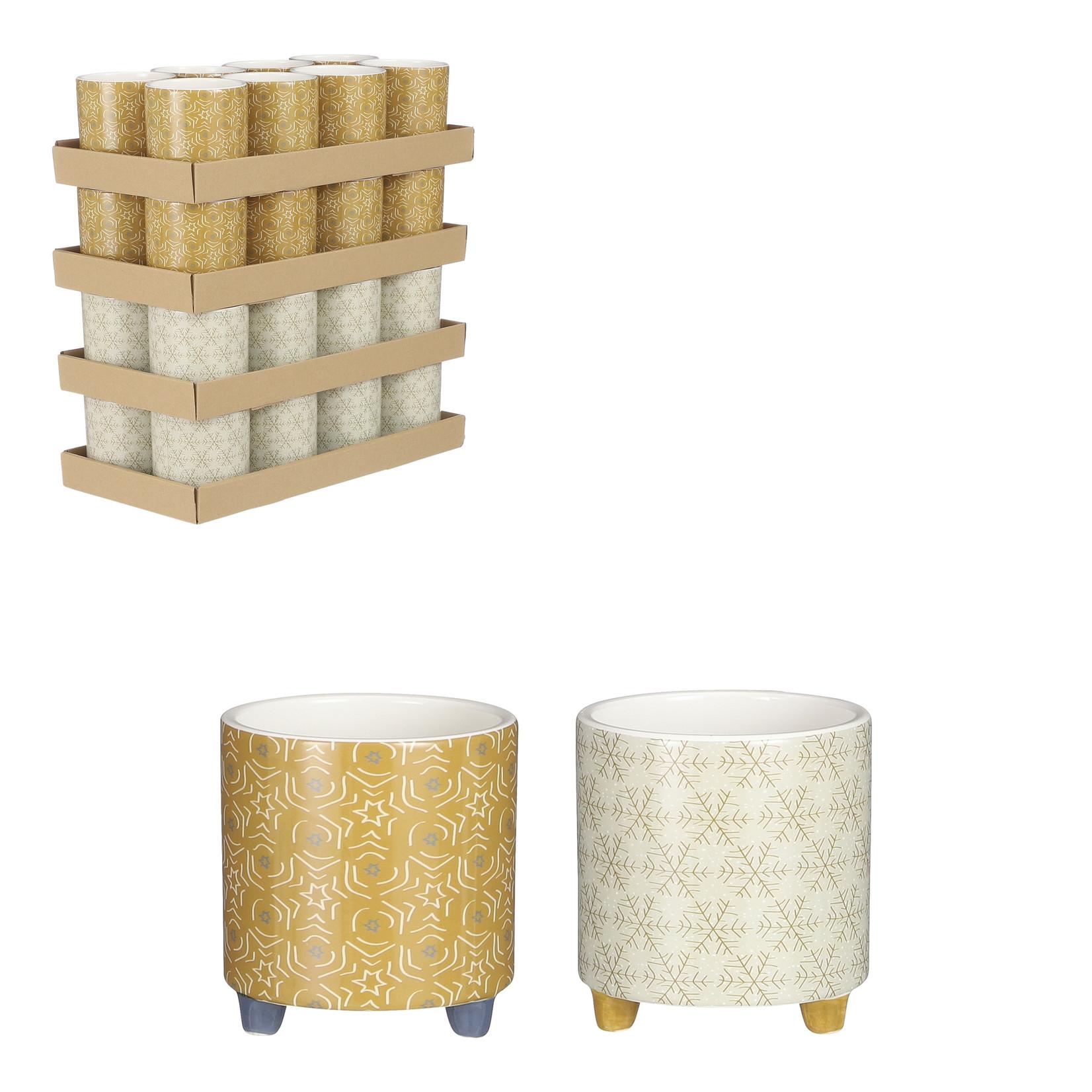 House of Seasons Pot rond oker beige
