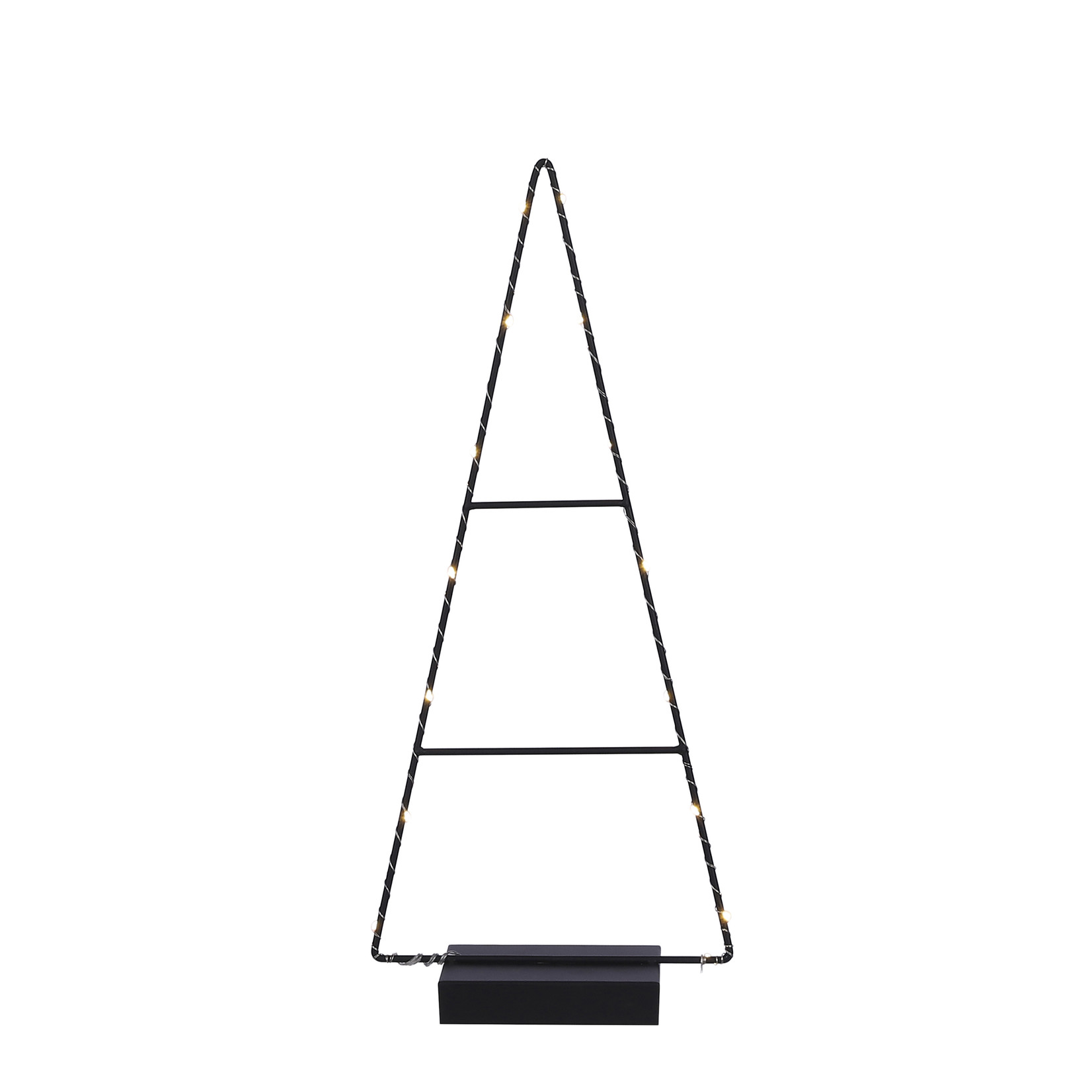 House of Seasons Decoratie tree black led battery operated