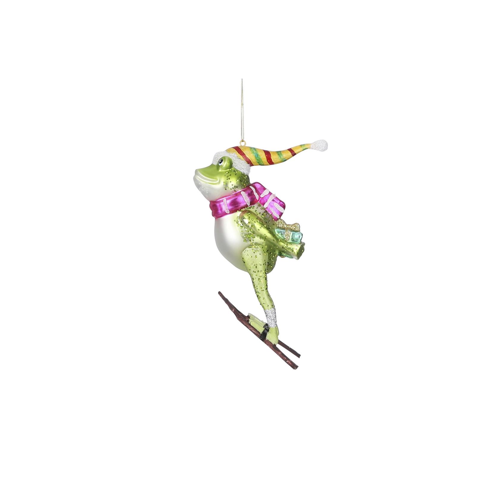 House of Seasons Ornament kikker groen