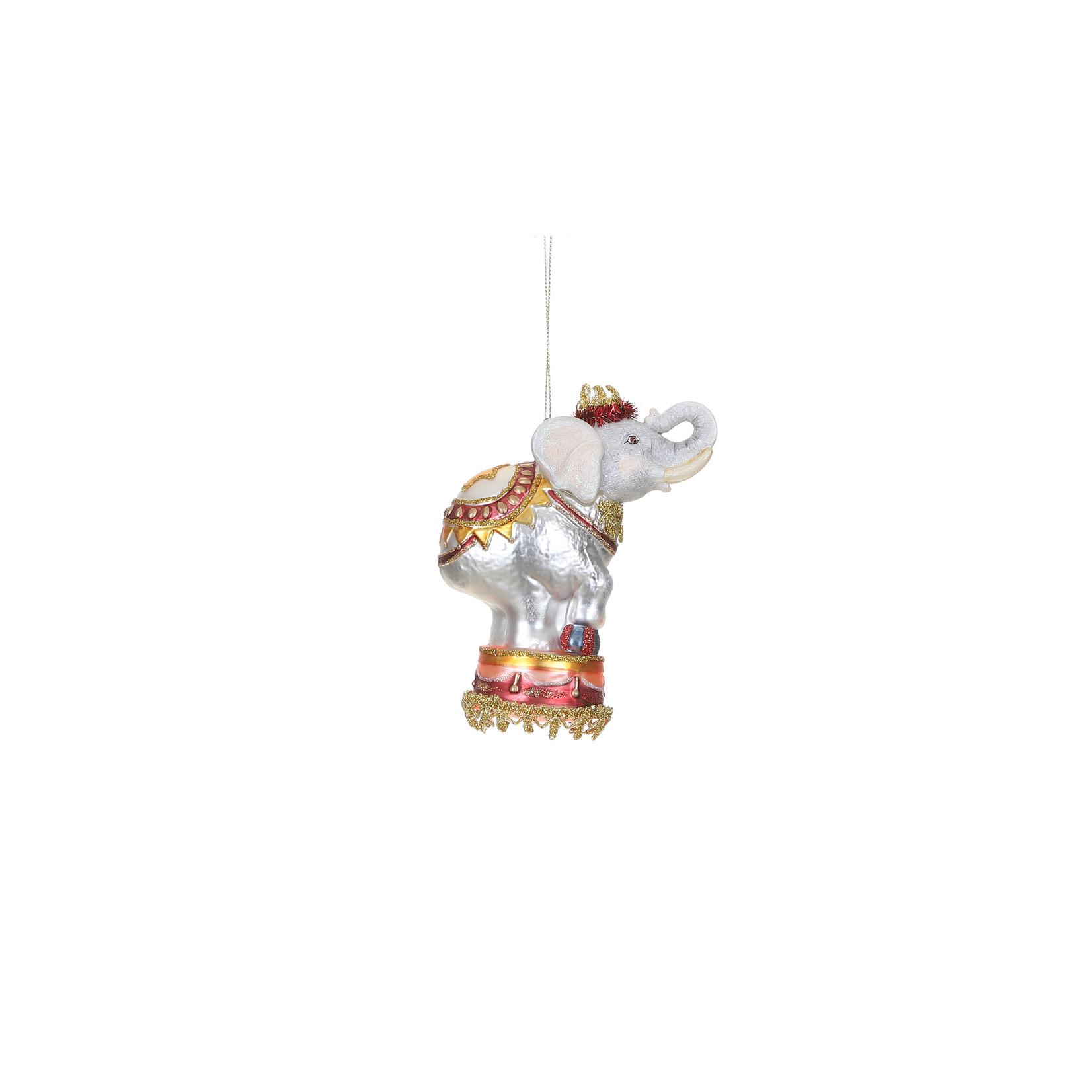 House of Seasons Ornament elephant gray