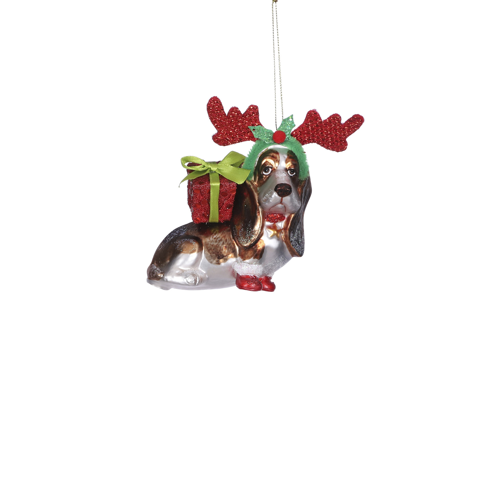 House of Seasons Ornament dog red
