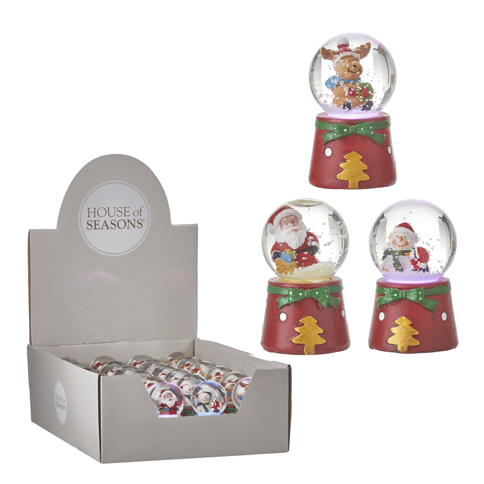 House of Seasons Waterglobe christmas red battery operated