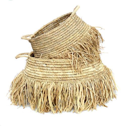 Bazar Bizar The Raffia Deluxe Baskets - Natural - SET2