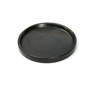 Bazar Bizar The Terracotta Burned Plate - Black - 20 cm