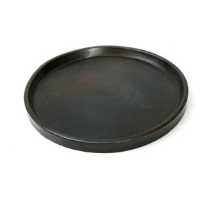 Bazar Bizar The Terracotta Burned Plate - Black - 26 cm