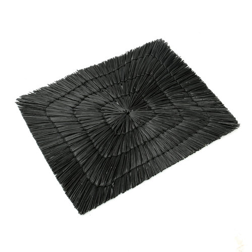 Bazar Bizar The Alang Alang Placemat - Rectangular - Black - 40 cm