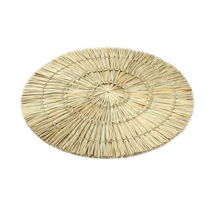 Bazar Bizar Alang Alang Tabletti - Pyöreä - Natural - 38 cm