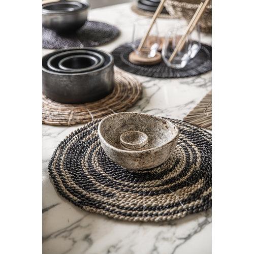 Bazar Bizar The Burned Cylinder Dish - Black - SET3