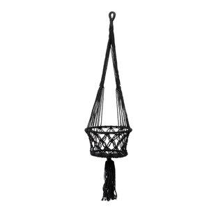 Bazar Bizar Makramee Amppeli - Musta - 30 cm