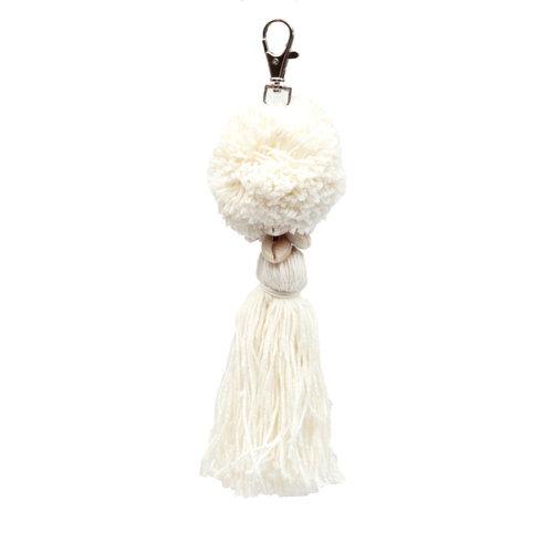 Bazar Bizar The Pompon Keychain - White
