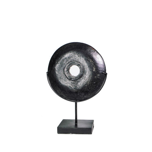 Bazar Bizar The Black River Stone on Stand - Middle-sized
