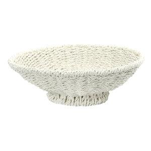 Bazar Bizar The Porto Seagrass Bowl - White - 38 cm
