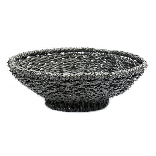 Bazar Bizar The Porto Seagrass Bowl - Black - 38 cm