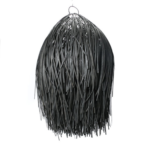 Bazar Bizar The Rattan Shaggy Pendant - Black - 90 cm