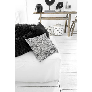 Bazar Bizar The Glitter Cushion - Silver - 40 x 40 cm