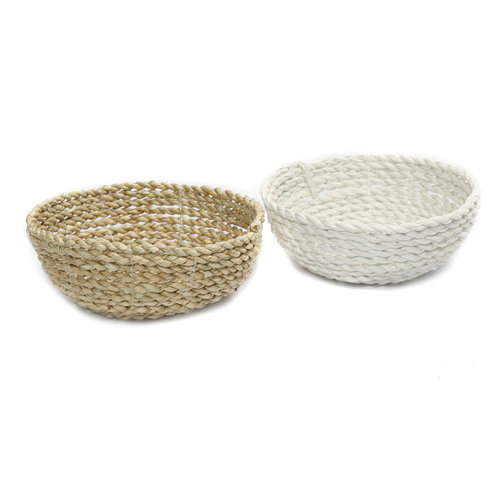 Bazar Bizar The Seagrass Bowl - White - 15 cm