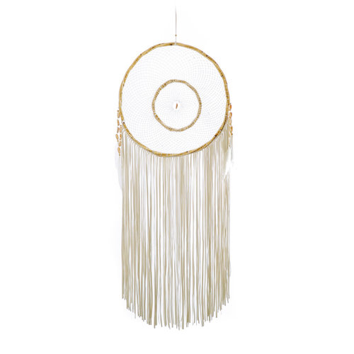 Bazar Bizar The Tulum Dreamer with Leather Fringes - White