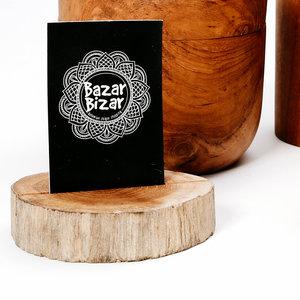 Bazar Bizar The Teak Root Card Holder - Natural - 7 cm