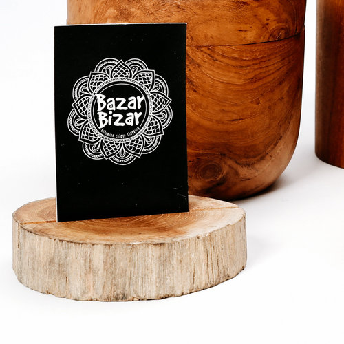 Bazar Bizar  The Teak Root Card Holder - Natural - 7 cm