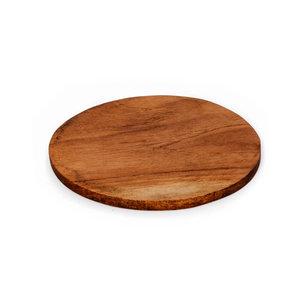 Bazar Bizar The Teak Root Nordic Coaster - Brown - 10 cm