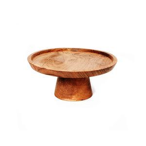 Bazar Bizar The Teak Root Cake Dish - Brown - 19 cm