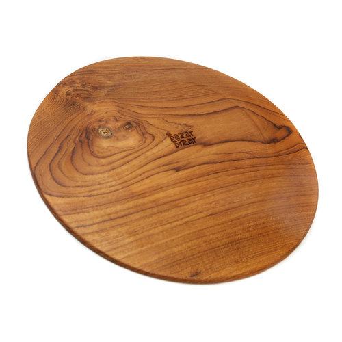 Bazar Bizar The Teak Root Round Plate - Brown - 34.5 cm