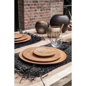 Bazar Bizar The Teak Root Round Plate - Brown - 30 cm