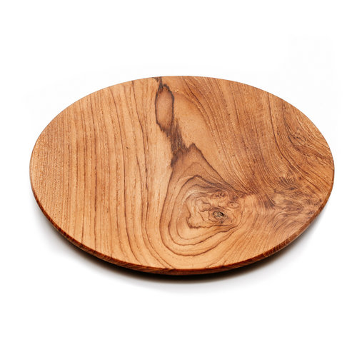 Bazar Bizar The Teak Root Round Plate - Brown - 30 cm