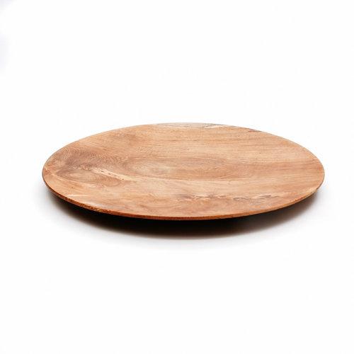 Bazar Bizar The Teak Root Round Plate - Brown - 24 cm