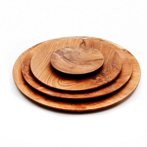 Bazar Bizar The Teak Root Round Plate - Brown - 14 cm