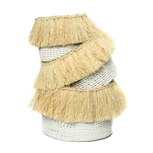Bazar Bizar The Aloha Baskets - White Natural - SET3