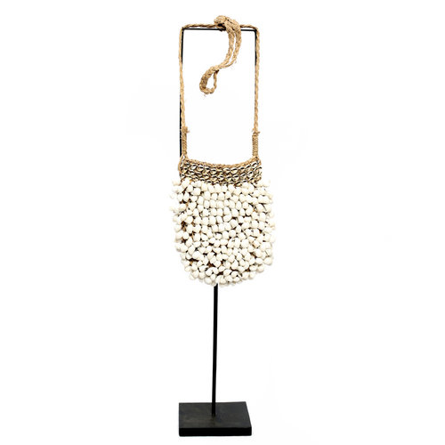 Bazar Bizar The Shell Purse on Stand - White