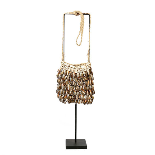 Bazar Bizar The Shell Purse on Stand - Natural