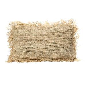 Bazar Bizar The Raffia Cushion Rectangular - Natural - 30 x 50 cm
